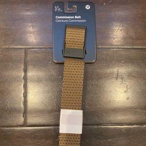Men's Lululemon commission belt brown black L